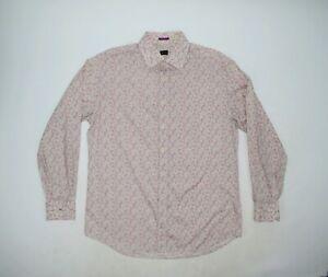 Men's Paul Smith Floral Pattern Cotton Shirt Size 42 16.5