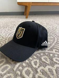 Las Vegas Golden Knights Baseball Hat Cap - Adiddas Black One size