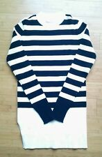 Everlane Brenton ribbed sweater, black and white stripes, M