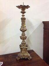 Grande candeliere/portacero bronzo dorato epoca Napoleone III -'800