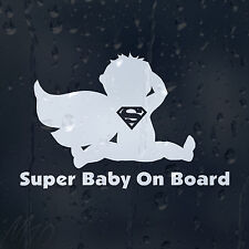 Super Man Baby On Board Car Decal Vinyl Sticker For Window Panel Bumper