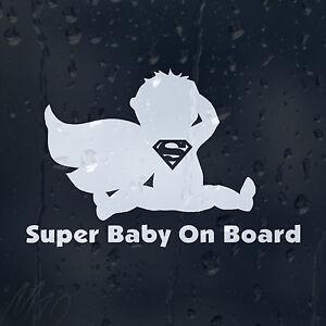 Super Man Baby On Board Car Decal Vinyl Sticker For Window Panel Bumper