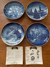 Lot of 4 Bing And Grondahl Copenhagen B&G Christmas Plates Centennial Denmark