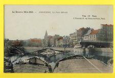 Superbe cpa BELGIQUE WW1 Guerre 14-15 ANDENNE le Pont Détruit Bridge Destroyed