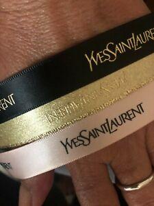 SALE - EMBOSSED ribbon AUTHENTIC designer  RARE YSL yves saint laurent  new