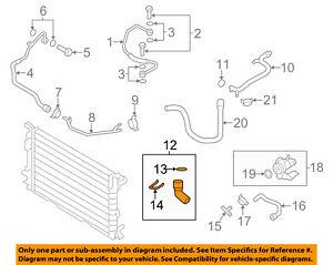 AUDI OEM 10-12 A4 Quattro 2.0L-L4 Cooling-Inlet Hose 8K1819373AN
