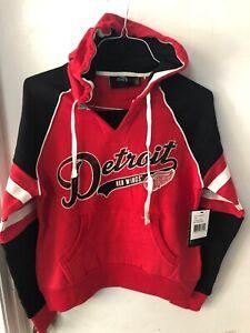 Detroit Red Wings Women's Large Hoodie Sweatshirt New Nhl Hockey GIII Red