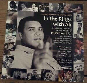 Muhammad Ali promotional flyer for London 70th birthday exhibition