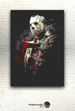 "Friday the 13th - CANVAS --- 16""x12"" [ horror gore print poster Jason Voorhees ]"