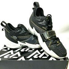 JORDAN WHY NOT ZER0.3 Black Gold White Basketball Sneaker Mens Shoe Size 8