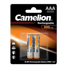 2 x Akku 1,2 Volt  800mAh Micro AAA HR03 Telefon NiMH wiederaufladbar Camelion