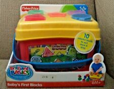 Fisher Price Baby'S First Blocks 10 Pcs L4804 2006 *New*