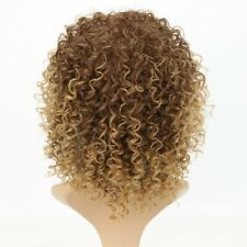 Blonde Kinky Curly Wig Afro Soft Synthetic Wig Fashion E7CX