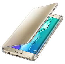 Original Samsung Galaxy S6 Edge Plus Clear View Cover Schutzhülle EF-ZG928 Gold