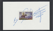 Brian Schweitzer, 23rd Montana Governor, signed 3x5 card with Montana stamp