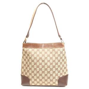 GUCCI One Shoulder Bag GGpattern brown leather