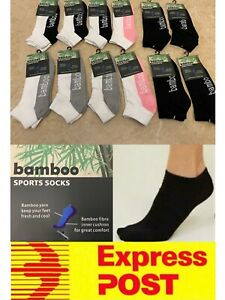 12 Pairs Women's Bamboo Sports Ankle Socks Special AU Stock Express Post