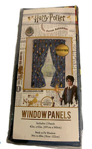 "Harry Potter Chibi Curtains Window Panels 42""x 63"" set of 2 Jay Franco new"