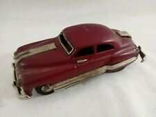 "1950 PONTIAC 2 Door Sedan JAPAN TIN FRICTION 6"" CAR ~COMPLETE ORIGINAL~PURPLE"