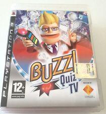 BUZZ! QUIZ TV GIOCO PS3 PLAYSTATION 3 OTTIMO ITALIANO RARISSIMO!!!