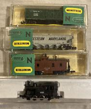 Vintage Minitrix 9mm N Scale Coal Engine # 492 + 3-Cars 3195 3216 3277 *MINT +++