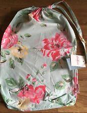 Cath Kidston Box Flora Aqua Drawstring Bedding Dust Bag cotton Fabric New B