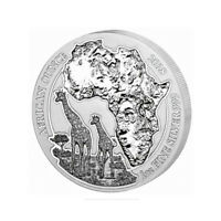 Rwanda 50 Francs, 2018,Giraffe African wildlife Ounce, 1oz SILVER Coin, real UNC