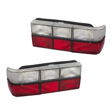 Performance Set Taillights Clear & Red Lens Black Trim for 1985-1993 Volvo 240