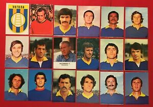 LOTTO DI 18 FIGURINE CALCIATORI LAMPO 1977-78 SQUADRA COMPLETA VERONA
