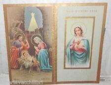 VECCHIO CALENDARIETTO RELIGIOSO 1952 RELIGIONE CATTOLICA CALENDARIO DA BARBIERE