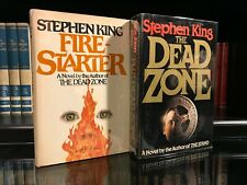 Lot of 2 Stephen King Horror Hardcover Titles - Firestarter - The Dead Zone