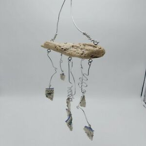 """Unique OOAK Mobile- Made From Drift Wood and Pottery Pieces 9"""" x 16"""""""