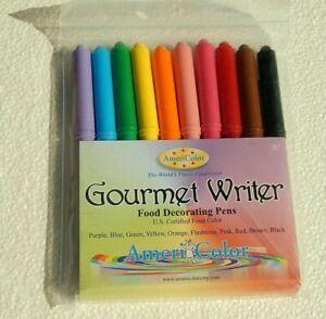 AmeriColor 10 Color Gourmet Writer Food Decorating Pen Set