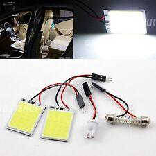 2pcs 24 COB LED T10 Panel Car light Trunk Map Dome Bulbs Cool White T10+Festoon