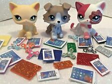 Littlest Pet Shop LPS Clothes 3 pc Accessories 1 Phone 1 Tablet 1 Fidget Spinner