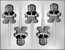 Gingerbread Person Christmas Lollipop Candy Mold from CK #4972 - NEW