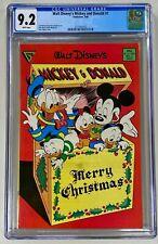 Walt Disney's Mickey & Donald #1 CGC 9.2 WP NM 1988 Carl Barks & Don Rosa