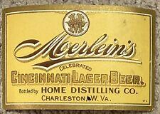 Moerlein's Cincinnati Lager Beer Pre-Pro Labeled Bottle