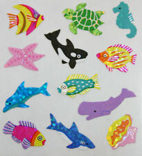 OCEAN ANIMALS #16 Glittery Stickers - Sandylion Stickers - FREE SHIPPING OFFER