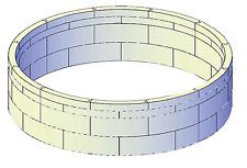 Isolationsschutz 104 cm hoch für Pool rund 450 x 120 cm Druckschutz Wärmeschutz