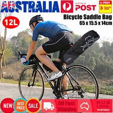 12L Large Capacity Bicycle Saddle Bag Bike Seat Riding Pack w/Reflective Pattern