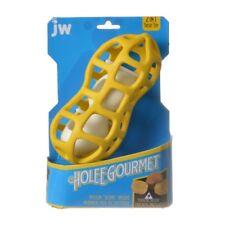 JW Holee PEANUT 2-in-1 Large Yellow DOG TREAT TOY #31921 pets NIB