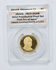 PR70 DCAM 2012-S Grover Cleveland Presidential Dollar 1st Day Graded ANACS *944