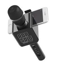 Pop Solo Karaoke Microphone Bluetooth Wireless Smart Phone Black Tzumi New