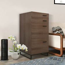 New Listingpemart Home Office Wooden Filling File Cabinet Storage 4 Layer Chest Of Drawer