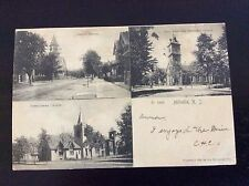 Churches of Millville, New Jersey Postcard Postmarked 1905
