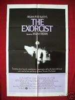THE EXORCIST *1973 ORIGINAL MOVIE POSTER 1SH LINDA BLAIR DEVIL HALLOWEEN HORROR