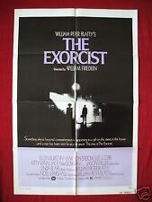 THE EXORCIST *1973 ORIGINAL MOVIE POSTER 1SH LINDA BLAIR DEVIL HALLOWEEN HORROR
