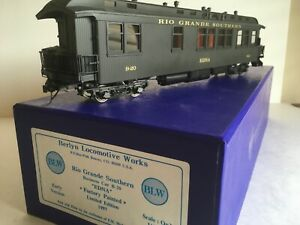 "Berlyn Locomotive Works BLW Brass On3 RGS ""EDNA""  Business Car B-20"