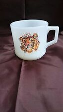 Fire King Tiger Cofee Mug Milk Glass